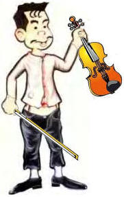 Pelao with violin
